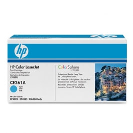 HP Toner Cyan CE261A für Color Laserjet CM 4540 CP4025 CP4525, 11.000 Seiten