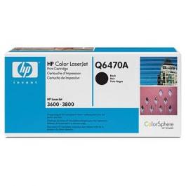 HP Toner Schwarz Q6470A für Color LaserJet 3600 / 3800 / CP3505, 6k