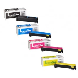 Kyocera Toner-Set TK-560 (Schwarz, Cyan, Magenta, Yellow) für FS-C5300dn FS-C5350dn