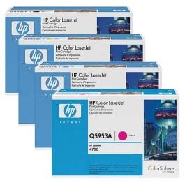 HP Toner-Set (Cyan, Magenta, Yellow, Schwarz) für Color LaserJet 4700