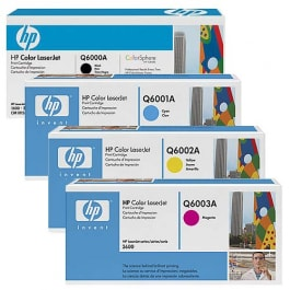 HP Toner-Set (Cyan, Magenta, Yellow, Schwarz) für Color LaserJet 1600 2600 2605 CM1015 CM1017