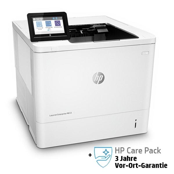 HP LaserJet Enterprise M612dn mit 3 Jahren Vor-Ort-Garantie