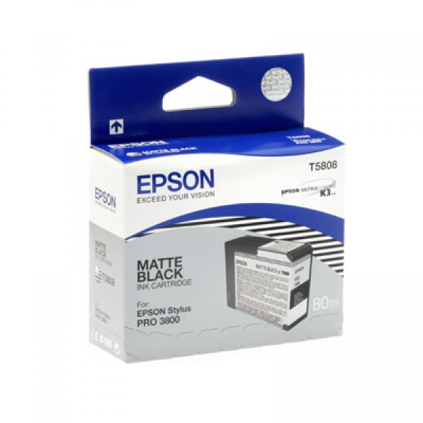 Epson Tinte T5808 Matt Black, 80 ml