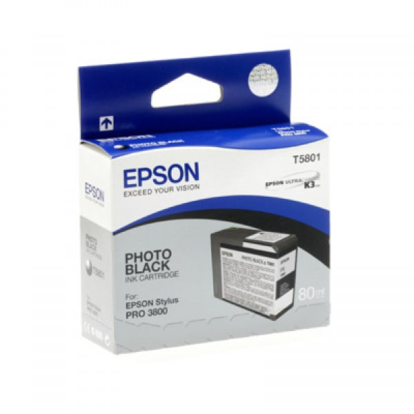 Epson Tinte T5801 Photo Black, 80 ml