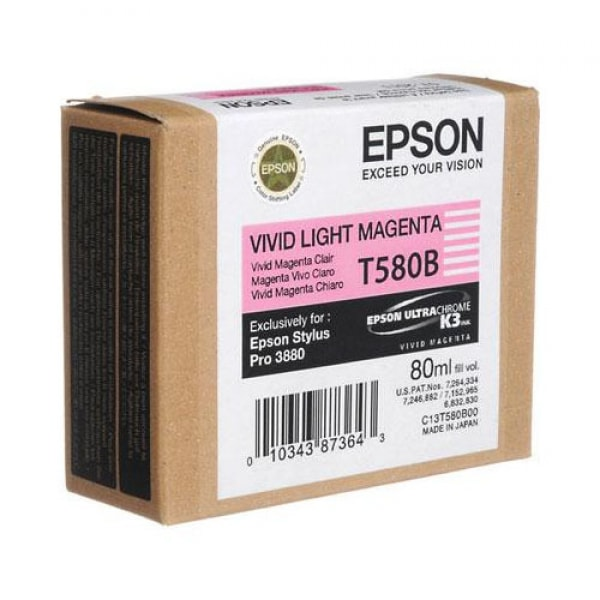 Epson Tinte T580B Vivid Light Magenta, 80 ml