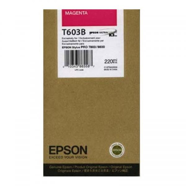 Epson Tinte T603B Magenta, 220 ml