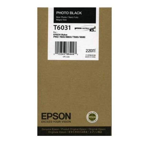 Epson Tinte T6031 Photo Black, 220 ml