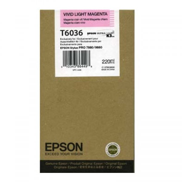 Epson Tinte T6036 Vivid Light Magenta, 220 ml