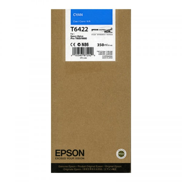 Epson Tinte T5962 Cyan UltraChrome HDR, 350 ml