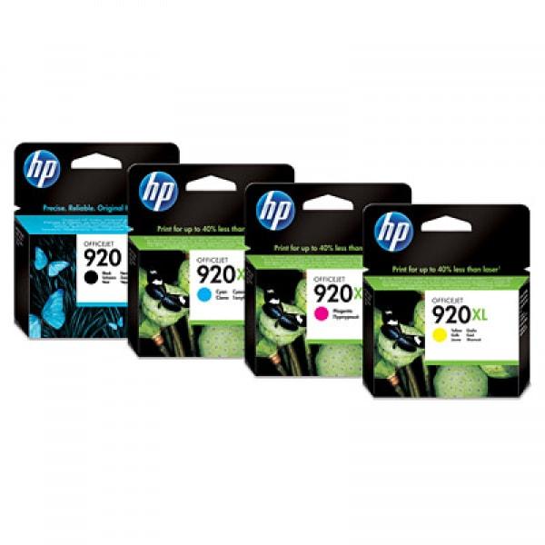 HP Tintenset Nr. 920XL Cyan, Magenta, Yellow, Schwarz