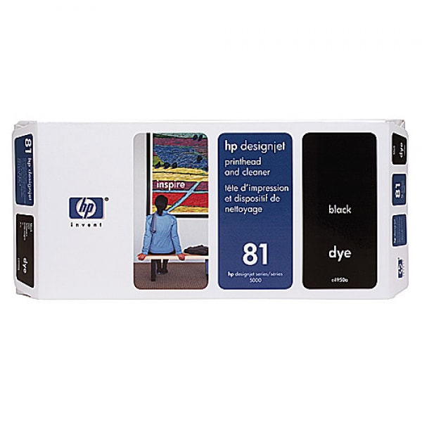 HP Druckkopf mit Reiniger Nr. 81 C4950A Schwarz