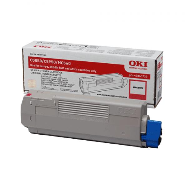 OKI Toner Magenta für C5850 C5950 MC560, 6.000 Seiten