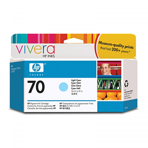 HP Tinte Nr. 70 C9390A Light Cyan, 130ml