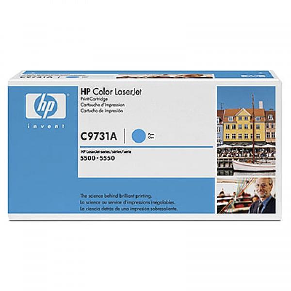HP Toner C9731A Cyan für Color Laserjet 5500 5550, 12k