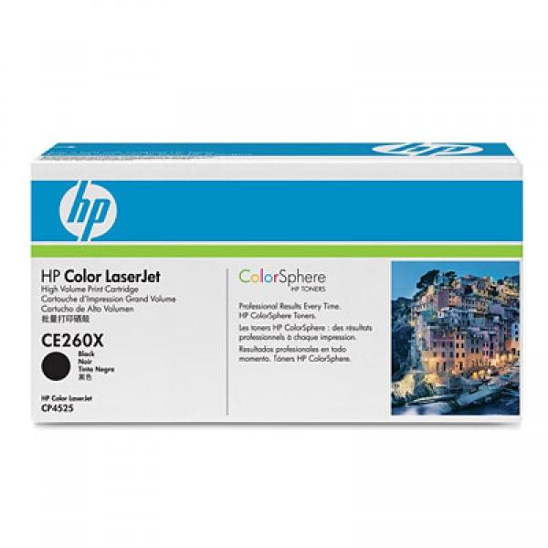 HP Toner Schwarz CE260X für Color Laserjet CP4525, 17.000 Seiten