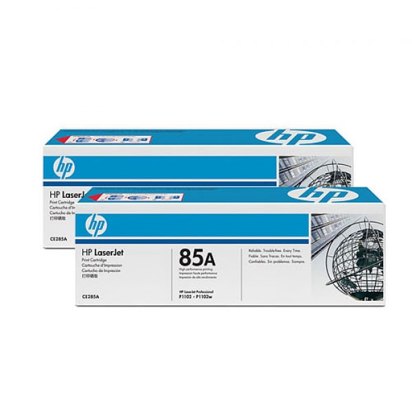 HP Toner CE285AD Schwarz für LaserJet P1102 M1132 M1212 M1217 2x 1.600 Seiten