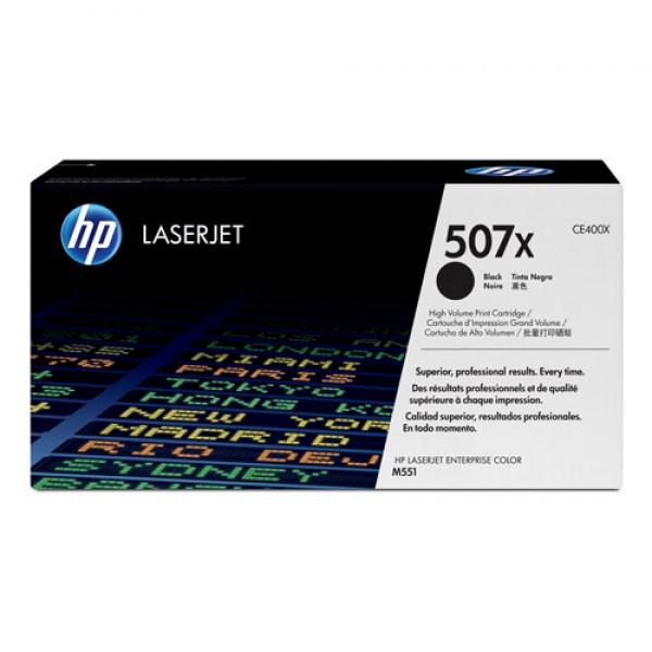 HP Toner 507X CE400X Schwarz für Color Laserjet 500 M551 M570 M575, 11.000 Seiten