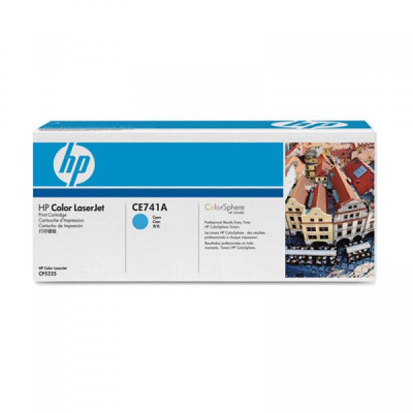 HP Toner Cyan CE741A für Color Laserjet CP5225, 7k3