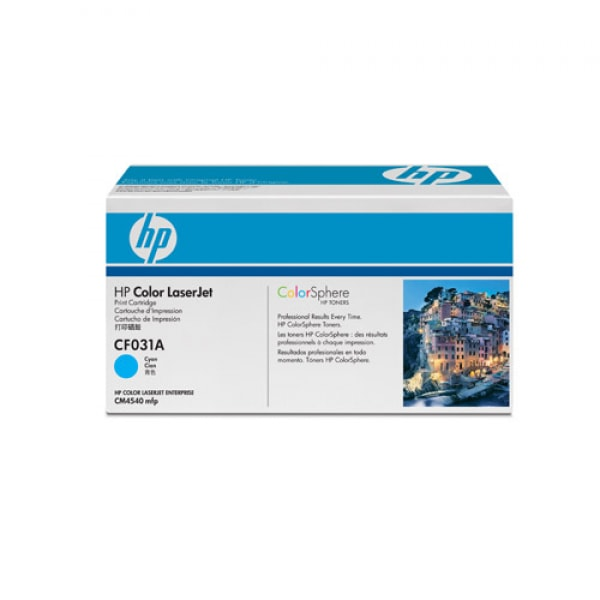 HP Toner Cyan CF031A für Color Laserjet CM4540, 12k5