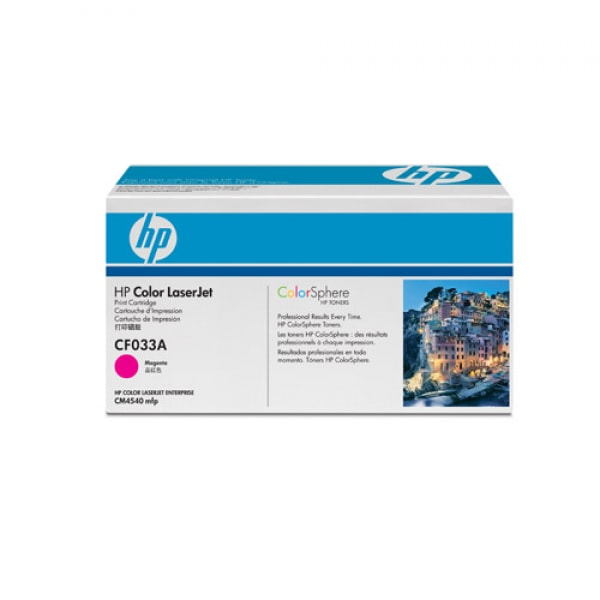 HP Toner Magenta CF033 für Color Laserjet CM4540, 12k5