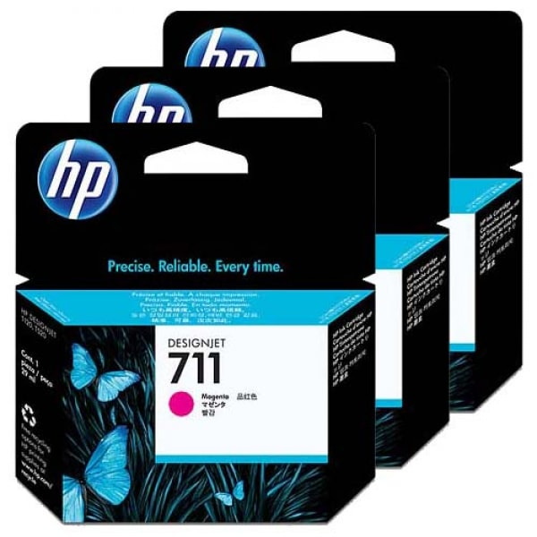 HP Tinte Multipack Nr. 711 CZ135A Magenta, 3x 29 ml