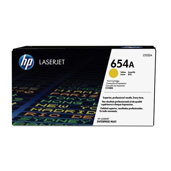 HP Toner 654A Gelb CF332A