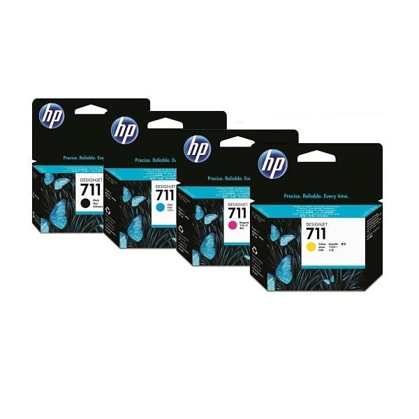 HP Tintenset CMYK Nr. 711 für DesignJet T120