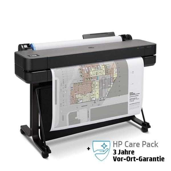 HP Designjet T630 (91.4 cm / 36 Zoll) mit 3 Jahren Vor-Ort-Garantie