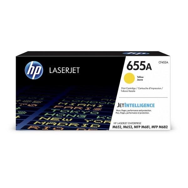 HP Toner 655A Gelb CF452A