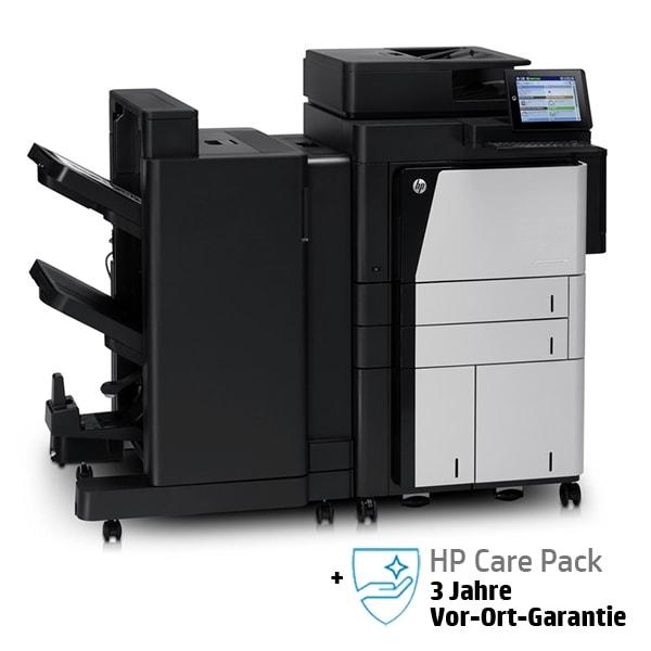 HP Laserjet Enterprise 800 MFP Flow M830z mit Ausgabeoption und 3 Jahren Vor-Ort-Garantie
