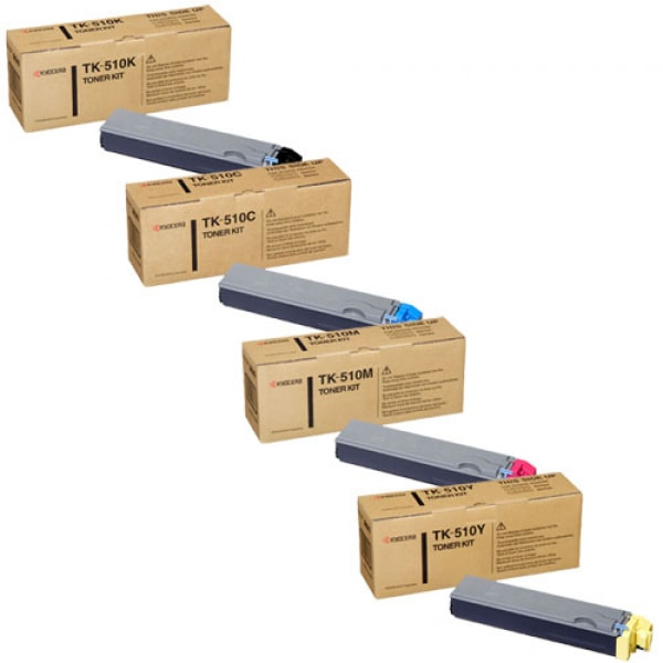 Kyocera Toner-Set TK-510 (Schwarz, Cyan, Magenta, Yellow) für FS-C5020 FS-C5025 FS-C5030