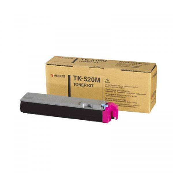 Kyocera Toner Kit TK-520M, Magenta, für FS-C5015, 4.000 Seiten