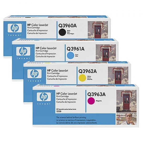 HP Toner-Set (Cyan, Magenta, Yellow, Schwarz) für Color LaserJet 2550 2820 2840