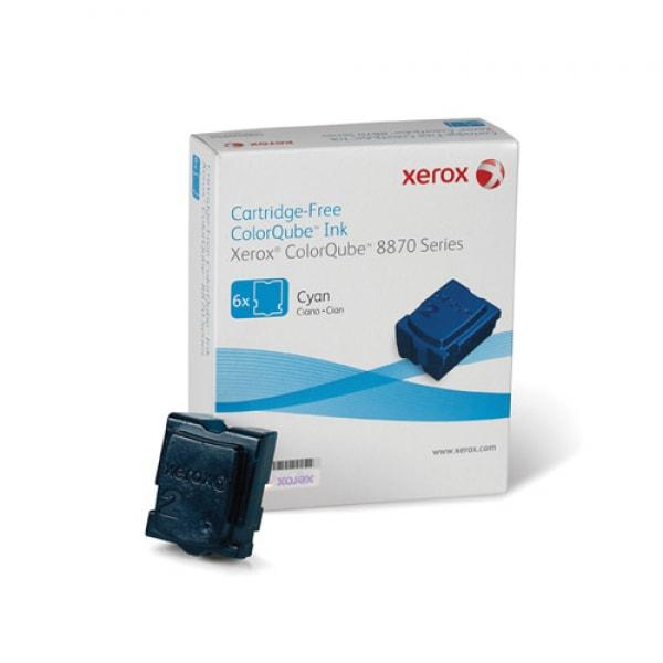 Xerox Solid Ink (6 Sticks) Cyan für ColorQube 8870 8880, 17.300 Seiten