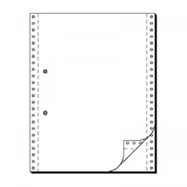 Tabellierpapier, 54 g/m², DIN A4 hoch, zweilagig, blanko, Längsperforation, 1.000 Blatt