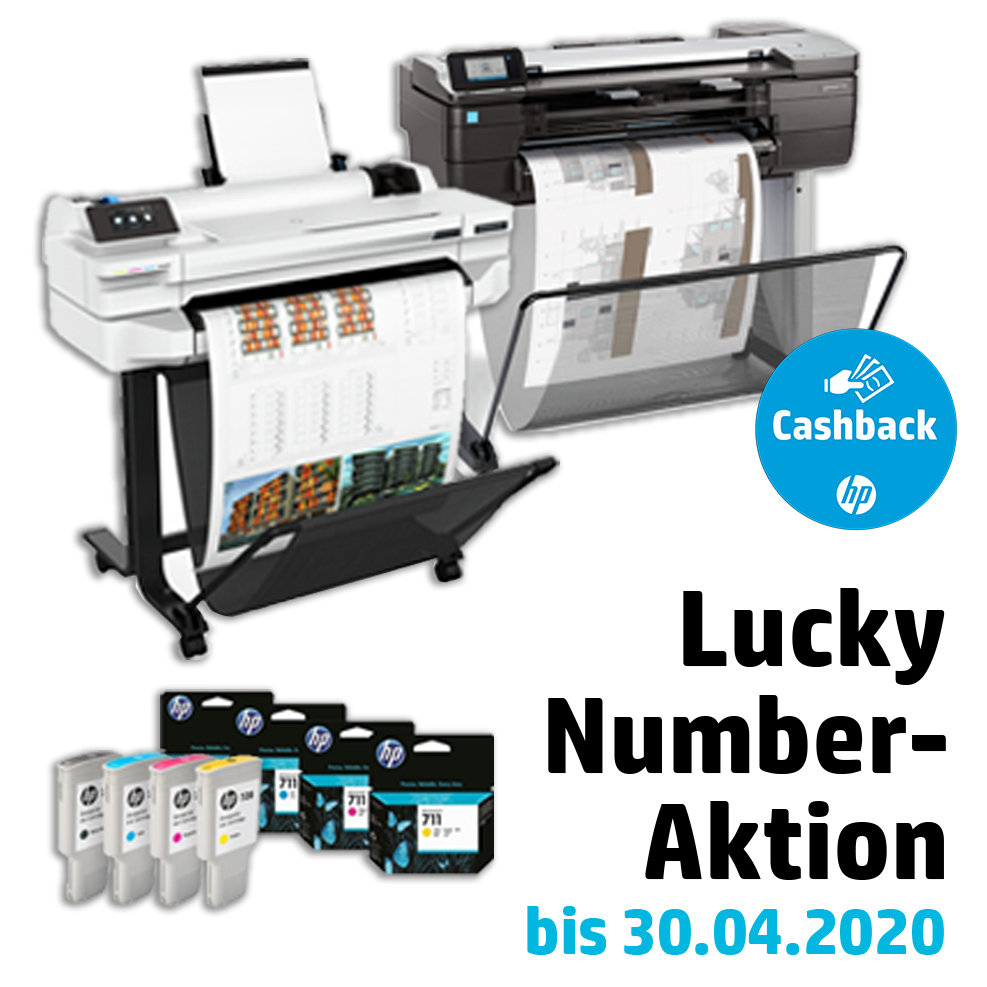 HP Tinten-Cashback-Aktion Lucky Number