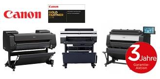 Canon Aktion: 3 Jahre kostenlose Garantie beim Kauf eines teilnehmenden Canon imagePROGRAF Plotters
