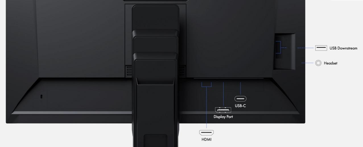 EIZO FlexScan EV3285-BK Anschlüsse