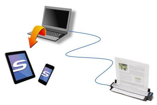 Fujitsu ScanSnap S1100i - auf Mobilgeräte scannen