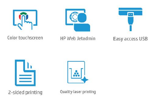 HP Color LaserJet Managed MFP E87660 Features