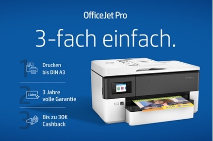 HP OfficeJet A3-Multifunktionsdrucker Cashbackaktion