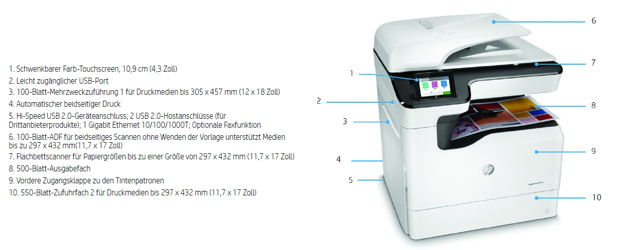 HP PageWide Color MFP 774dn Produktansicht