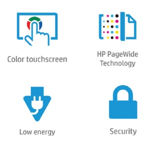 HP PageWide Managed Color MFP 586 Features
